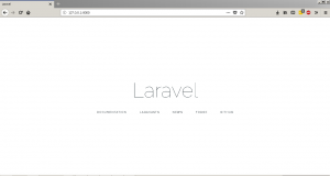Laravel Home Page